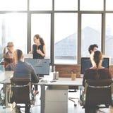 Planification de collaboration partageant le concept d'affaires de soutien photographie stock