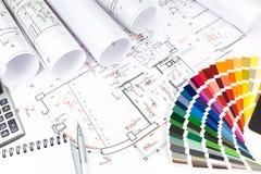 Planification de conception d'intérieurs photographie stock libre de droits