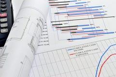 Planification de projet et flux de liquidités de financement Photos stock