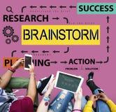 Planification de réunion d'échange d'idées partageant le concept de pensée Photographie stock libre de droits