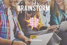 Planification de réunion de séance de réflexion d'échange d'idées partageant le concept Images stock