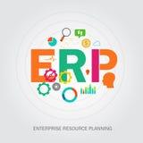 Planification de reource d'entreprise d'ERP Images stock