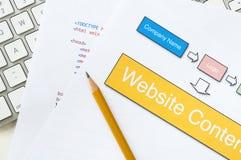 Planification de site Web Photos libres de droits