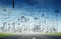 Planification de stratégie commerciale Photo libre de droits