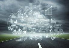 Planification de stratégie commerciale Image libre de droits
