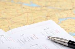 Planification de vacances Images stock