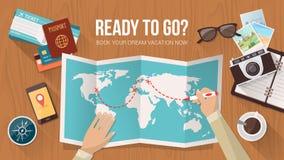 Planification de voyage Images libres de droits