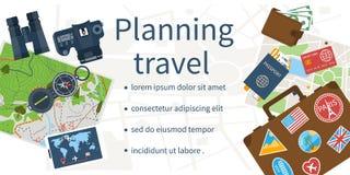 Planification de voyage, concept illustration libre de droits