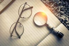 Planification des affaires avec l'espace de copie et des fournitures de bureau Photographie stock libre de droits