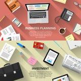 Planification des affaires et concept d'investissement Photos libres de droits