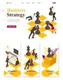 Planification des affaires stratégique isométrique illustration stock
