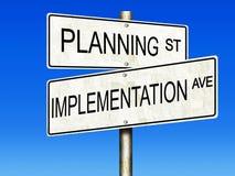 Planification et exécution illustration libre de droits
