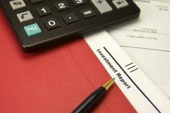 Planification financière Photos stock
