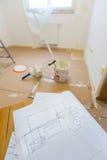 Planification pour rénover à la maison images libres de droits