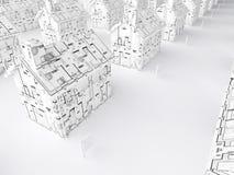 Planification pour une maison neuve Images libres de droits