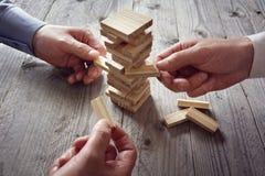 Planification, risque et stratégie d'équipe dans les affaires photo libre de droits