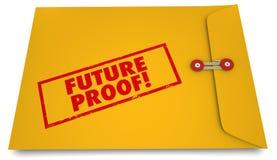 Planifications du produit durables de futur de preuve timbre d'enveloppe 3d Illustratio illustration stock