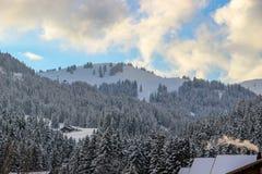 Planihubel Saanenmöser, Schweiz Royaltyfria Bilder
