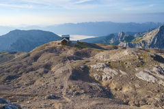 Planika mountain hut. At the souther side of mt Triglav Royalty Free Stock Photo