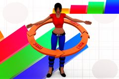 planillustration för kvinnor 3d Royaltyfri Fotografi
