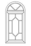 Planimetric arch window 3 Royalty Free Stock Images