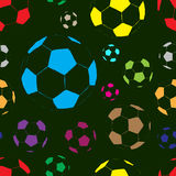 Planimetric soccer balls Royalty Free Stock Image