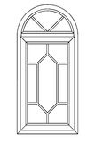 Planimetrisches Bogenfenster 3 Lizenzfreie Stockbilder