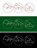 Planimetry. circle and triangle Royalty Free Stock Image