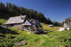 Planina Visevnik, alpi julian Fotografia Stock