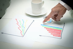 Planing of business man in working room Stock Images