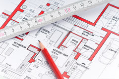 Planing a house Stock Photo