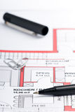 Planing a house Stock Images