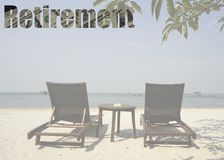 Planing for rich and happy when retirement time coming royalty free stock photography