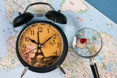 Planing for travel to France Paris Royalty Free Stock Photo