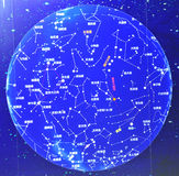 Planisphere. Celestial globe, constellation astrocompass, planisphere,star Royalty Free Stock Images