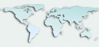 Planisphere. Bleu continent and white ocean planisphere Royalty Free Stock Images