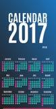 2017 planisty Kalendarzowy projekt Ścienny miesięcznika kalendarz dla roku Zdjęcia Royalty Free