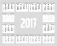 2017 planisty projekt ilustracja wektor
