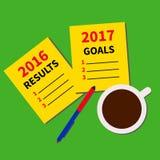 Planistyczni cele dla w przeszłym roku Zdjęcia Stock
