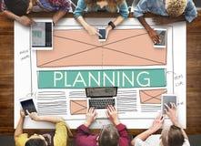 Planistyczny planu rozwiązania strategii taktyk wzroku pojęcie Zdjęcia Royalty Free