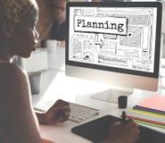 Planistyczny postępów rozwiązań przewdonika projekta pojęcie zdjęcie stock