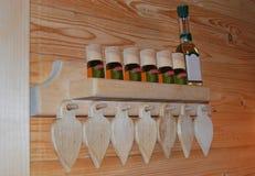 Plank in bathhouse royalty-vrije stock fotografie