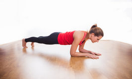 Plank exercise Stock Images