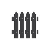 Plank fence icon vector, filled flat sign, solid pictogram isolated on white. Symbol, logo illustration. Royalty Free Stock Image