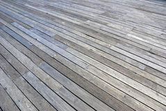 Plank floor perspective docks. A large hardwood plank floor on a dock by the quay Royalty Free Stock Photos