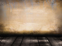Plank floor and wall Vintage. At home royalty free stock photos