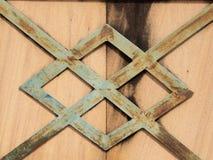 Plank iron wall. Close up stock image