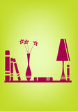 Plank met boeken Royalty-vrije Stock Foto's