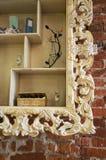 Plank met een ornament stock fotografie