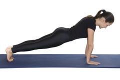 Plank pose stock photo